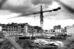 Construction began on the Potteries Shopping Centre in 1986