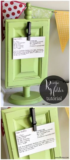 Creative DIY Mothers Day Gifts Ideas - Recipe Holder - Thoughtful Homemade Gifts for Mom. Handmade Ideas from Daughter, Son, Kids, Teens or Baby - Unique, Easy, Cheap Do It Yourself Crafts To Make for Mothers Day, complete with tutorials and instructions http://diyjoy.com/diy-mothers-day-gift-ideas