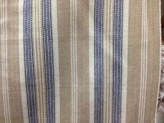roth & tompkins barrett navy tan cream woven stripe fabric cotton by the yard