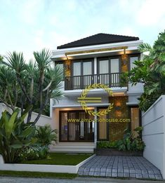 Desain Rumah Story by Heny_Property on Photobucket Simple House Design, Modern House Design, Contemporary House Plans, Style Bali, Zen House, 2 Storey House, 3d Home, House Elevation, Dream House Plans