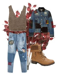 """""""Patchwork denim"""" by patricia0159 on Polyvore featuring Junya Watanabe, Zara and Nature Breeze"""