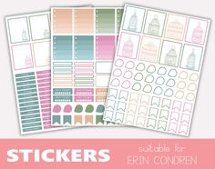 3 sheets of supercute stickers  Perfect di TheLittlePlannerShop