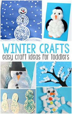 Daycare Crafts, Holiday Crafts, Fun Crafts, Indoor Crafts, Snow Crafts, Winter Fun, Winter Theme, Amusement Enfants, Winter Crafts For Toddlers