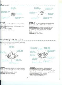 Butterflies Ribbon Embroidery Patterns