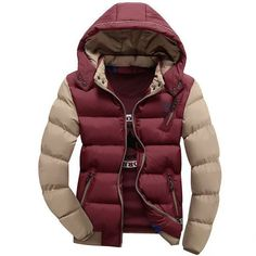 Fashion Ultralight Spring Winter Warm Jacket Men Cotton Brand Clothing Thick Zipper Slim Men's Jackets Parkas Designer Fit