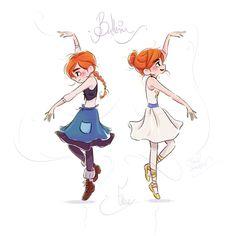 """FR-: Fanart de Félicie dans le long-métrage d'animation franco-canadien """"Ballerina"""" actuellement au cinéma. EN-: Fanart of Félicie from french-canadian animated feature """"Ballerina"""". https://www.facebook.com/artofdavidgilson/"""