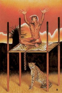 4 de bâtons - Tarot des âges par Mario Garizio