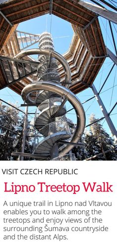 Lipno Treetop Walk in the Czech Republic - Looking for a hiking experience in the Czech Republic that enables you to walk among the treetops? This is for you! #czechrepublic #europe #travel #hiking