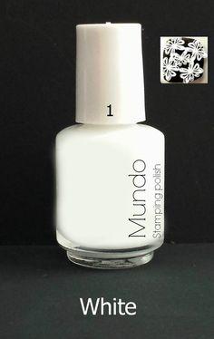 Mundo de Uñas Stamping Polish White (mini)