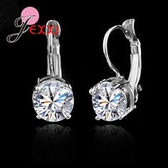 c8ae39660 Genuine 925 Sterling Sliver Fashion Jewelry Shining Micro Clear Crystal  Silver Clip Earrings for Women Party Factory Sale