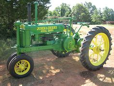 1937 John Deere Tractor.Another unstyled Model A