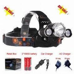 [ 31% OFF ] Linterna Frontal Led Headlamp 5000 Lumens Head Lamp T6 3 Led Headlight Head Torch Edc Flashlight 18650 Rechargeable Battery Pack