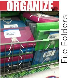 Dollar Store File Organizer ... and much more ideas for organizing on a budget