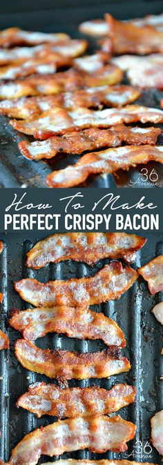 How to make crispy bacon every time. This crispy bacon is perfect for salads, soups, sandwiches, hamburgers, and much more.