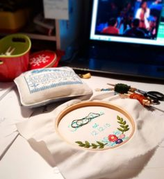 Late night stitching