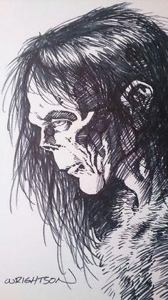 Frankenstein´s Monster, in Paperchaser 1968's Bernie Wrightson Comic Art Gallery Room