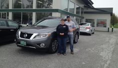 Tessa and Zachary's new 2015 NISSAN PATHFINDER! Congratulations and best wishes from North Country Nissan and LOUIS YOUNG.