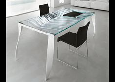 Luz De Luna Glass Desk  The Luz De Luna glass desk from Tonelli Design is a fantastic new addition for 2011 to their range of glass furniture.