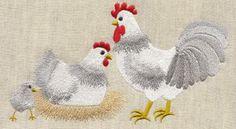 Scratch Yard Chickens Applique - Ashley Embroidery | OregonPatchWorks