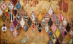 """Cherish by Jill Ricci, mixed media on canvas, 48""""x30"""""""