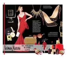 """The Holiday Wish List With Neiman Marcus: Contest Entry"" by lisalockhart ❤ liked on Polyvore featuring La Petite Robe di Chiara Boni, Chanel, Yves Saint Laurent, Neiman Marcus, Soffieria de Carlini, Patricia Breen, Alexis Bittar, Christian Louboutin, Bottega Veneta and Michael Kors"