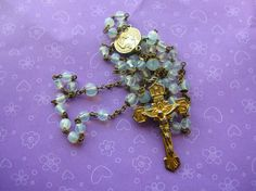 Shabby Chic Glass Rosary