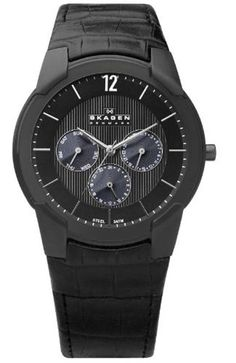 Black watch from the Danish brand Skagen