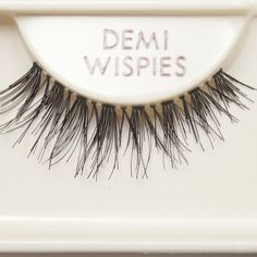 Ardell demi wispies. best false lashes ever. applied correctly and people will be complimenting you all day on your beautiful, full, long lashes