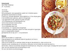 Snoek smoor recipe