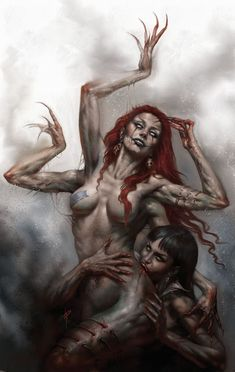 Vampirella by Lucio Parrillo on Curiator, the world's biggest collaborative art collection. Forgotten Realms, Red Sonja, Coven, Magic The Gathering, Pintura Sexy, Dark Fantasy, Fantasy Art, Dungeons E Dragons, Sexy Painting