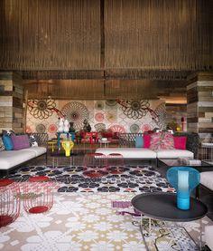 Vieques island W hotel interior desing by Patricia Urquiola
