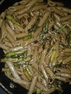 Penne with roasted asparagus and balsamic vinegarette- too many noodles.  Next time I'll put roasted nuts and more asparagus