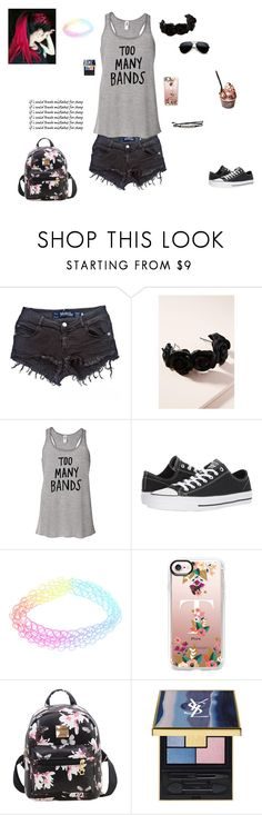 """""""Heavy Metal Broke My Heart"""" by falloutromanceandthecellabration ❤ liked on Polyvore featuring Brandy Melville, Jennifer Behr, Hot Topic, Converse and Casetify"""