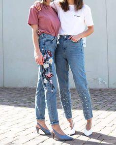 Jeans: tumblr denim blue mom embroidered embroidered embroidered denim glove heels heels high heels