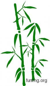 Bamboo 3-002 | Bamboo wall stencils and stickers for decoration Japanese Bird, Trailer Decor, Bamboo Art, Landscape Wallpaper, Gourd Art, String Art, Gourds, Plant Leaves, Scenery