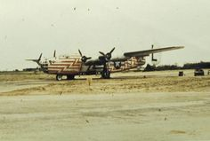 A B-24 Liberator of the 466th Bomb Group used as a flight assembly ship.