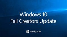 Windows 10 Fall Creators Update em 17 de outubro