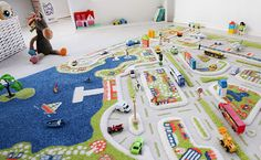 Open Ended Toys: Fun With Traffic Play Mats Play Mats, Hot Wheels Cars, Baby Makes, Lego Friends, Toddler Toys, New Toys, Colorful Rugs, Kids Playing, Product Launch