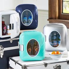 Retro Cooler - PBTeen. Guys, this would make my use of the communal office kitchen close to nil. WHICH WOULD MAKE ME SO HAPPY.