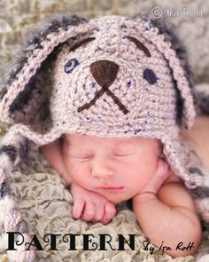 Biscuit Puppy Hat and Diaper Cover Set PDF Crochet Pattern by Ira Rott  $ 7.50 CAD