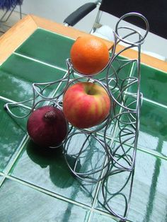 Unusual design fruit basket tree in chrome | eBay
