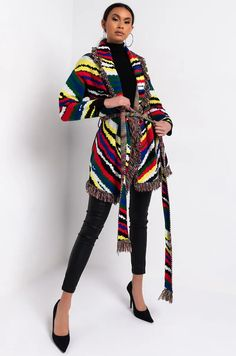 Fashion 2020, Girl Fashion, Womens Fashion, Strapless Mini Dress, Striped Cardigan, City Chic, Girls Night Out, Kimono Top
