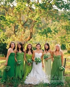 Wholesale 2013 Spring New Sweetheart Green Bridesmaid Dresses Garden Formal Evening Wedding Gowns Pageant Ball, Free shipping, $76.16-85.12/Piece | DHgate