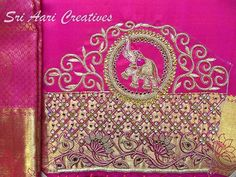 No photo description available. Cutwork Blouse Designs, Kids Blouse Designs, Wedding Saree Blouse Designs, Simple Blouse Designs, Stylish Blouse Design, Blouse Neck Designs, Sleeve Designs, Hand Designs, Couture Embroidery