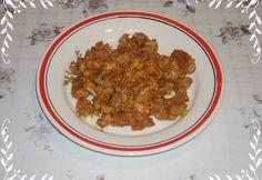 Sertéshúsos gombapörkölt Grains, Food, Meals, Yemek, Eten