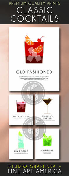 Minimalist Prints of your favorite Classic Cocktails. These best selling designs by Studio Grafiikka are now on Fine Art America, available as metal, wood, acrylic and canvas prints, apart from the fine art paper prints. Mojito is my favorite- which one's yours?