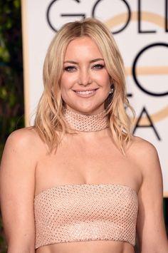 Pin for Later: Die Accessoires bei den Golden Globes sind fast noch besser als die Kleider Kate Hudson mit einem Halsreif von Michael Kors und Ohrringen von Forevermark