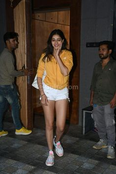 Ananya Panday looks hot in Mini Denim Shorts