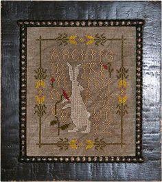 Briar Rabbit in Cross Stitch