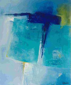 Emergence huile sur toile - Arielle Thomas